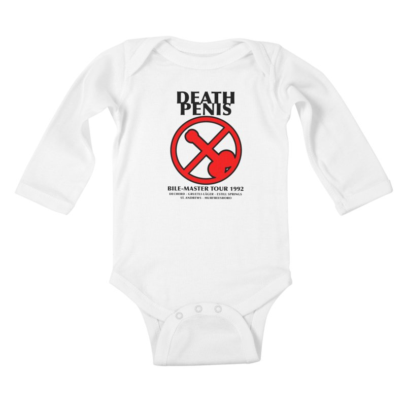 DEATH PENIS TOUR 1992 Kids Baby Longsleeve Bodysuit by worldwidecox's Artist Shop