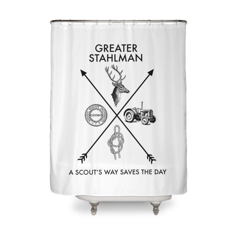 Stahlman Home Shower Curtain by worldwidecox's Artist Shop