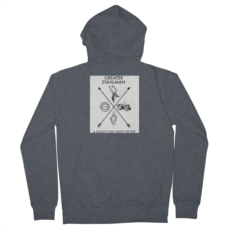 Stahlman Men's Zip-Up Hoody by worldwidecox's Artist Shop