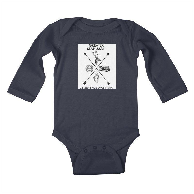 Stahlman Kids Baby Longsleeve Bodysuit by worldwidecox's Artist Shop