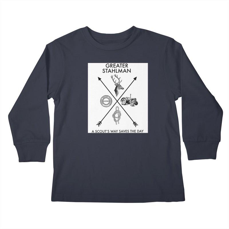 Stahlman Kids Longsleeve T-Shirt by worldwidecox's Artist Shop