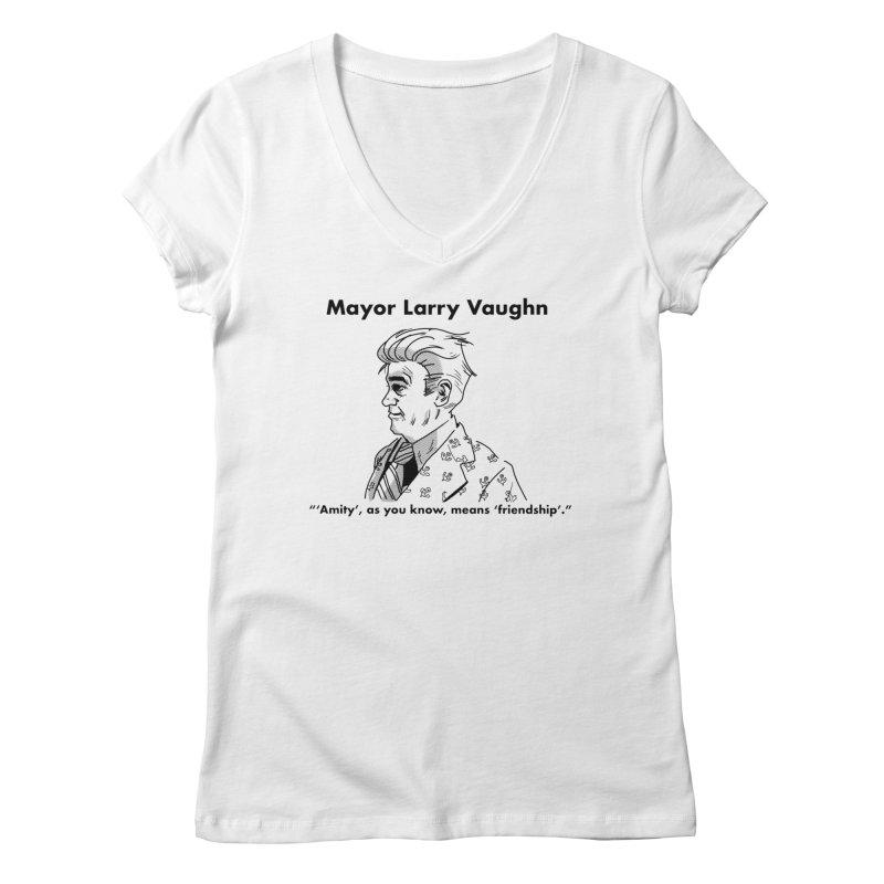 Larry Women's V-Neck by worldwidecox's Artist Shop