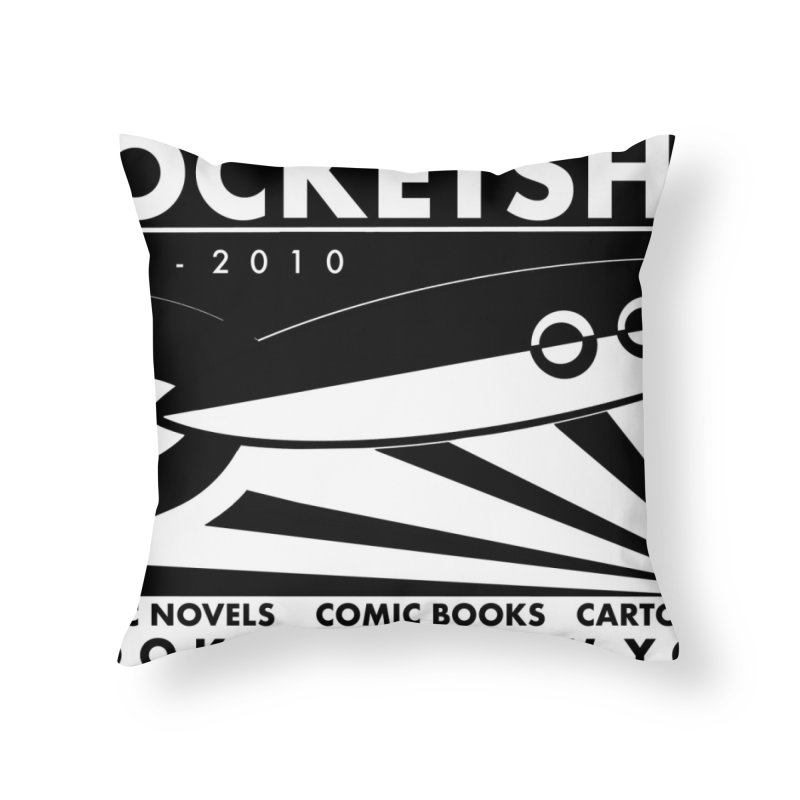 Another Long Gone Comic Shop Home Throw Pillow by worldwidecox's Artist Shop