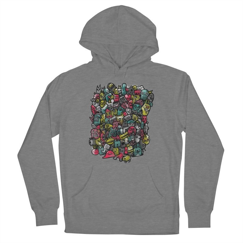 Staying Outside the lines  Men's French Terry Pullover Hoody by wotto's Artist Shop