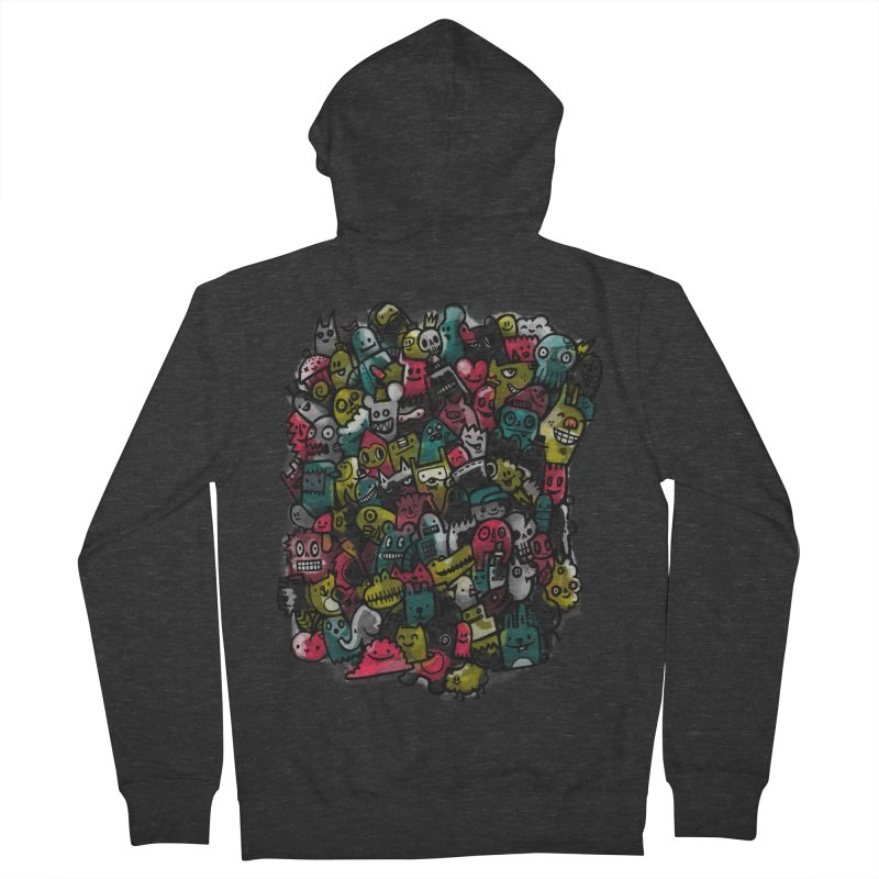 Staying Outside the lines  Men's French Terry Zip-Up Hoody by wotto's Artist Shop