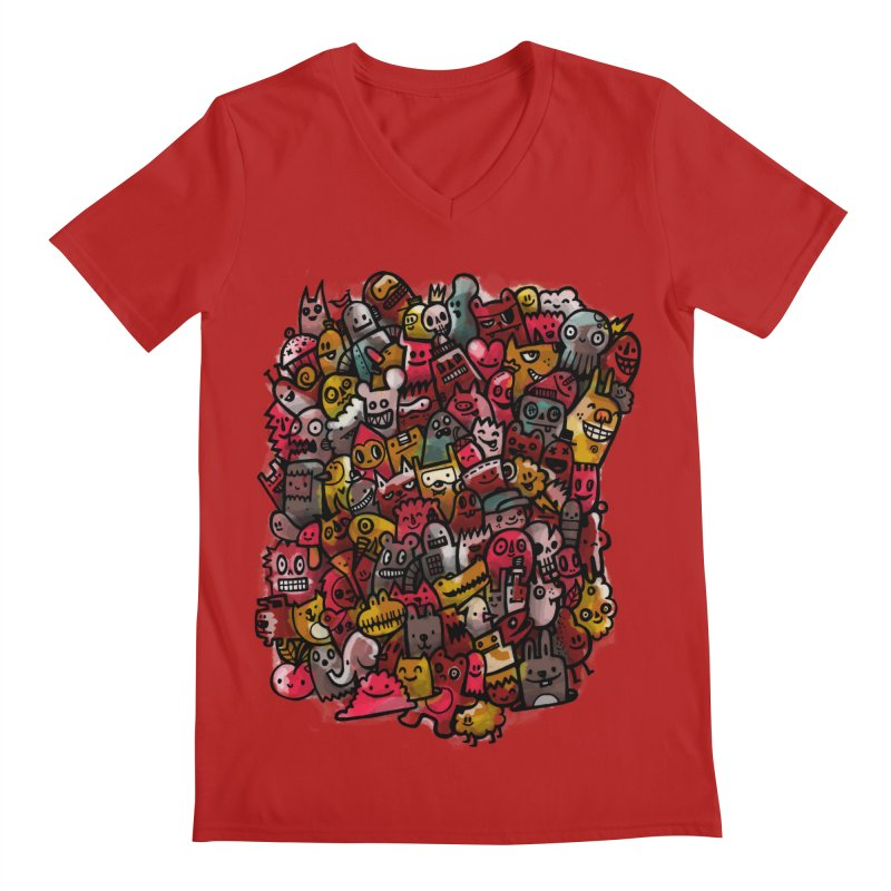 Staying Outside the lines  Men's V-Neck by wotto's Artist Shop
