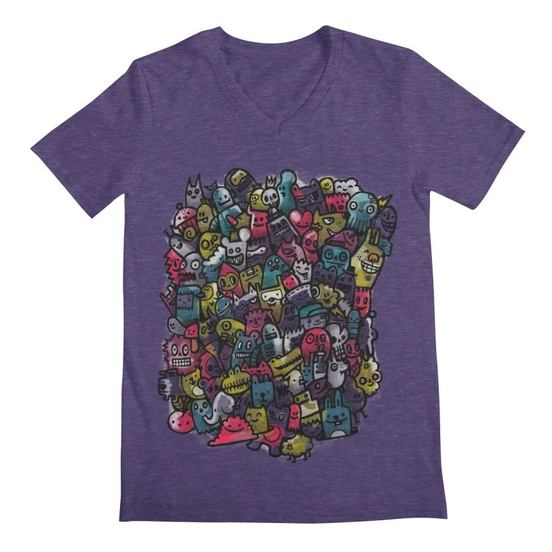 Staying Outside the lines  Men's Regular V-Neck by wotto's Artist Shop