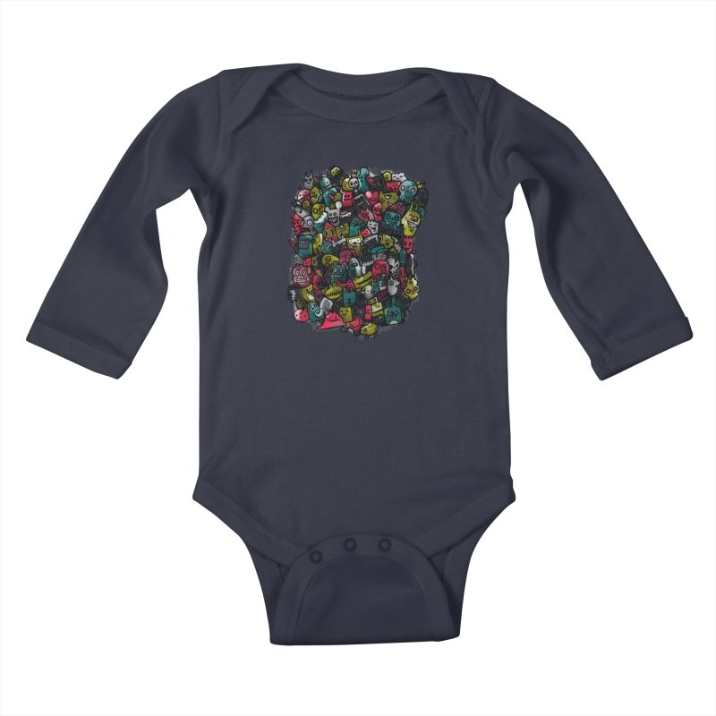 Staying Outside the lines  Kids Baby Longsleeve Bodysuit by wotto's Artist Shop