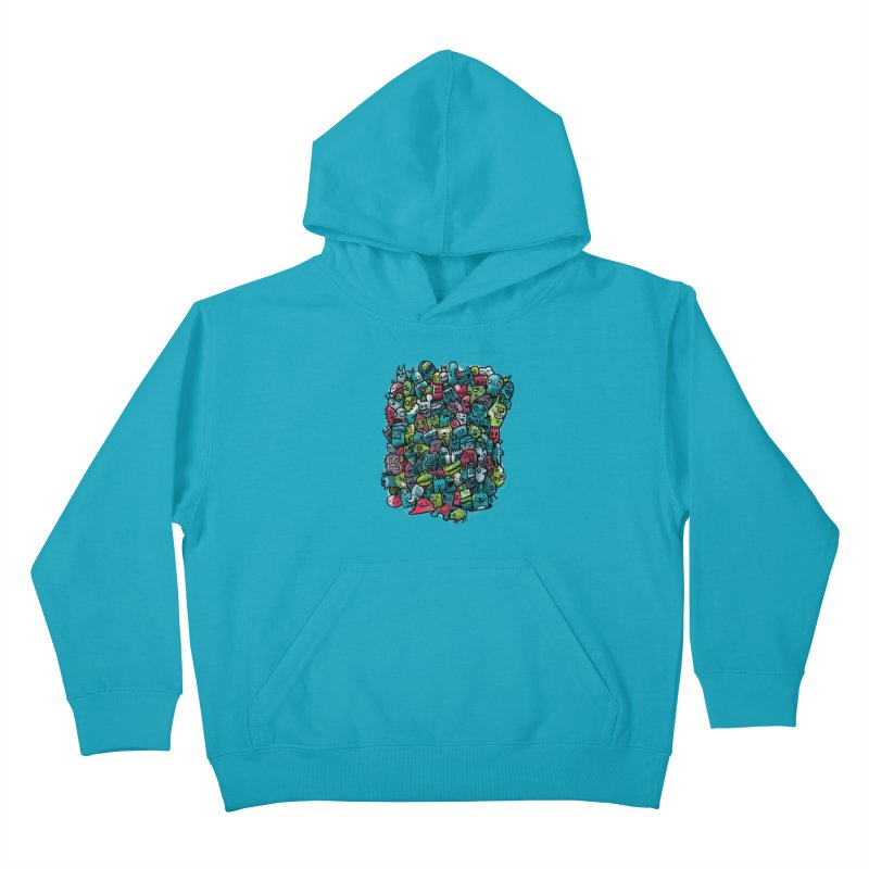 Staying Outside the lines  Kids Pullover Hoody by wotto's Artist Shop