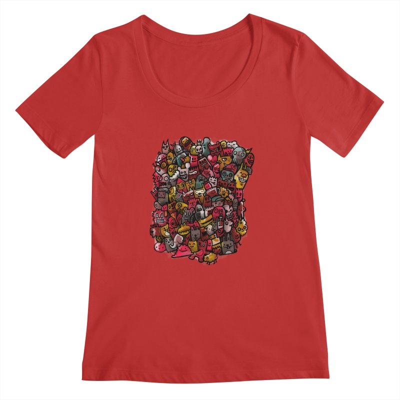 Staying Outside the lines  Women's Scoopneck by wotto's Artist Shop