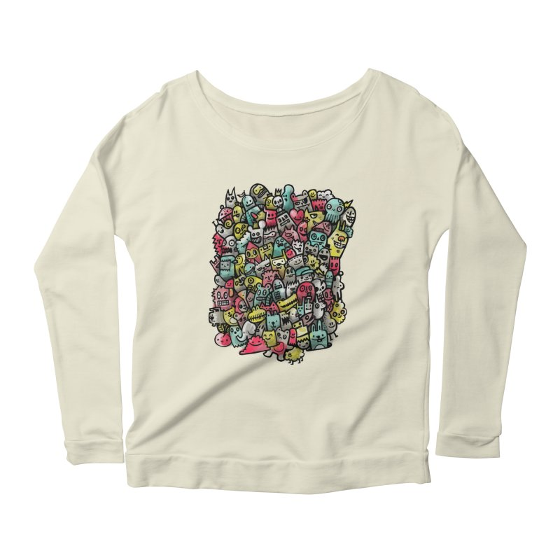 Staying Outside the lines  Women's Longsleeve Scoopneck  by wotto's Artist Shop