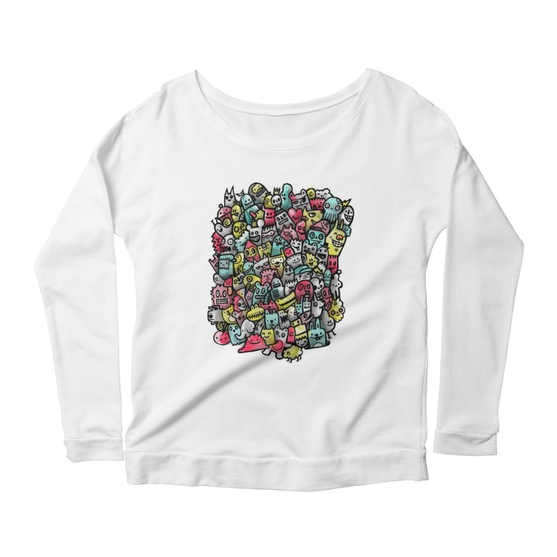 Staying Outside the lines  Women's Scoop Neck Longsleeve T-Shirt by wotto's Artist Shop
