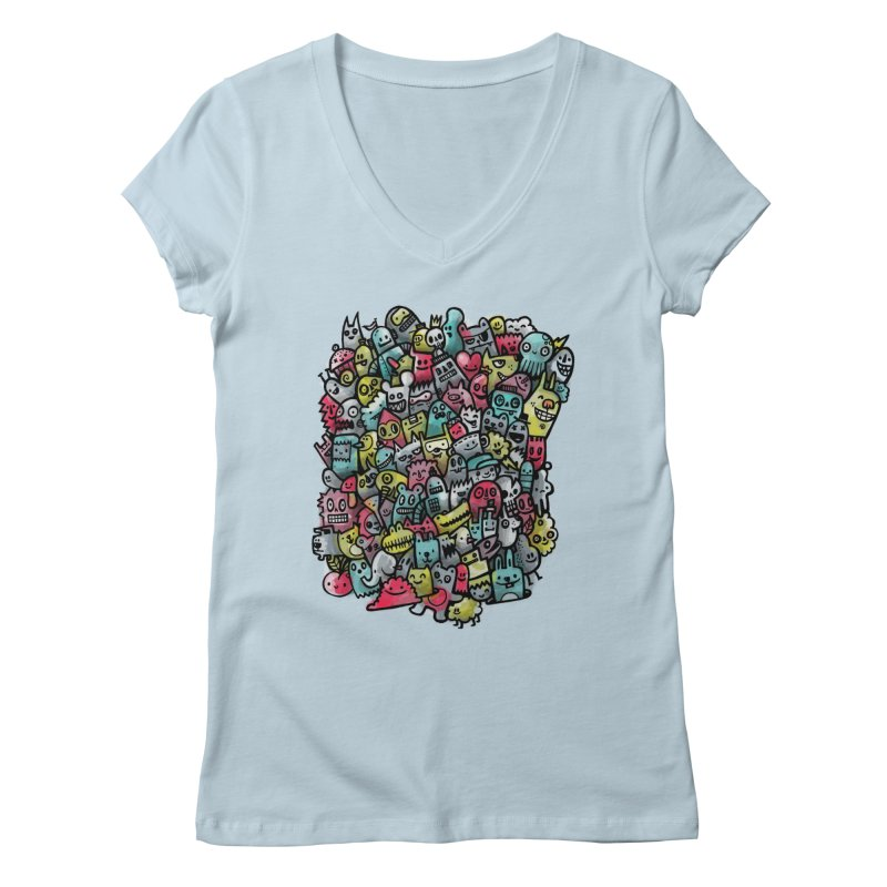 Staying Outside the lines  Women's V-Neck by wotto's Artist Shop