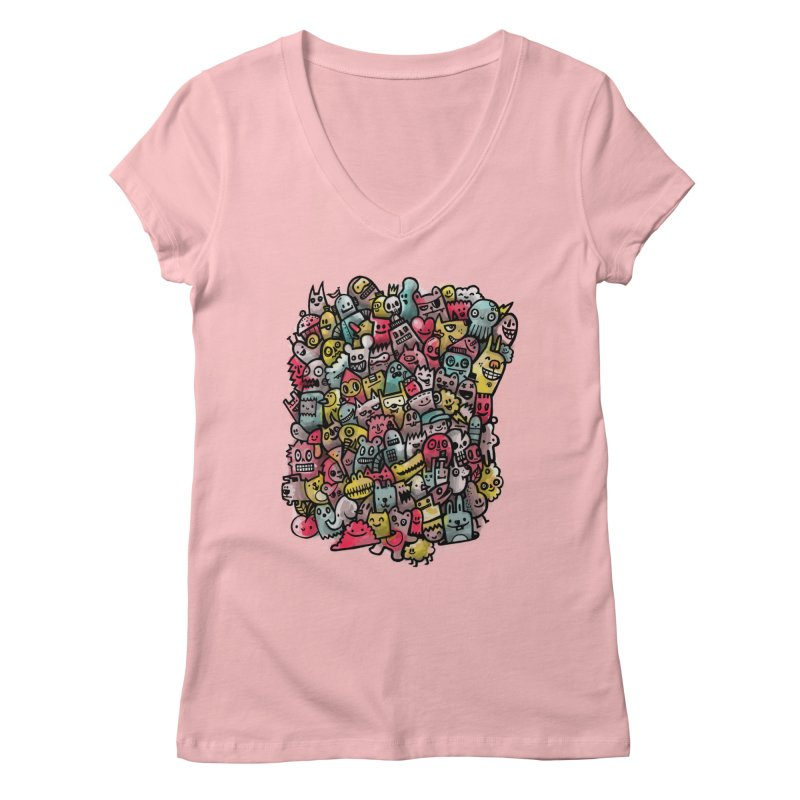 Staying Outside the lines  Women's Regular V-Neck by wotto's Artist Shop