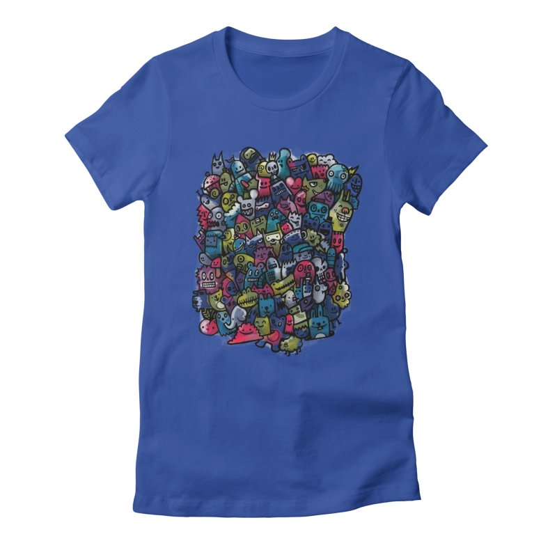 Staying Outside the lines  Women's Fitted T-Shirt by wotto's Artist Shop