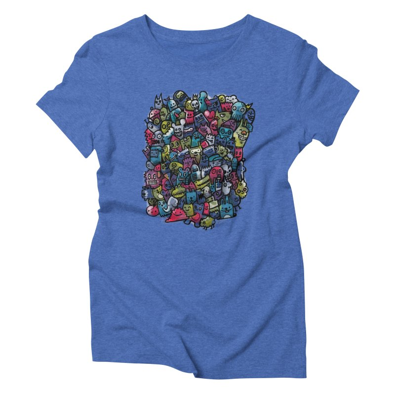 Staying Outside the lines  Women's Triblend T-Shirt by wotto's Artist Shop