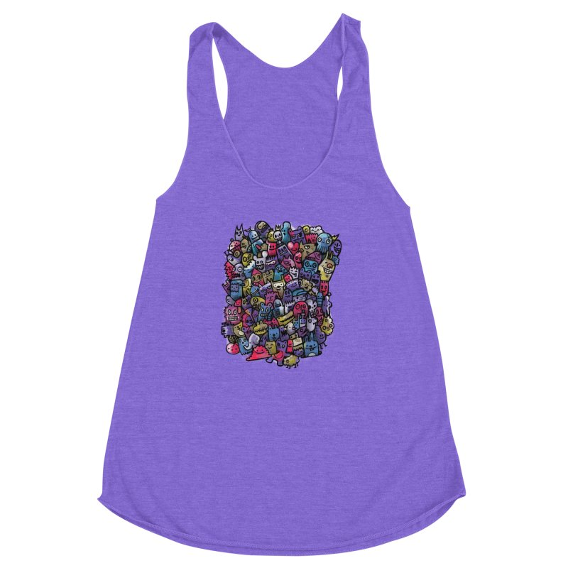 Staying Outside the lines  Women's Racerback Triblend Tank by wotto's Artist Shop