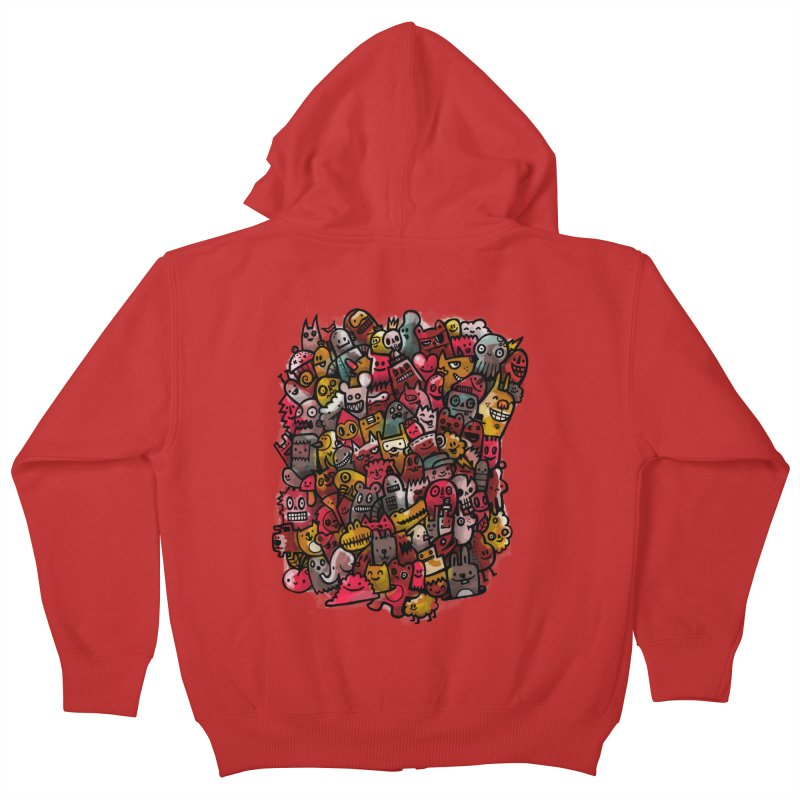 Staying Outside the lines  Kids Zip-Up Hoody by wotto's Artist Shop