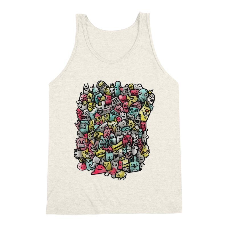 Staying Outside the lines  Men's Triblend Tank by wotto's Artist Shop