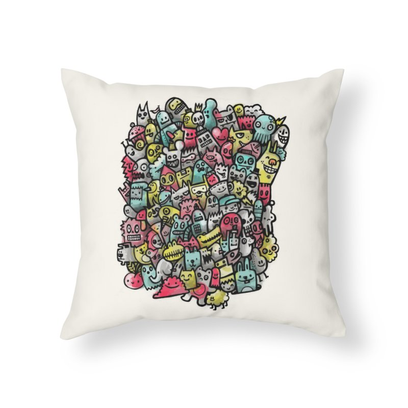 Staying Outside the lines  Home Throw Pillow by wotto's Artist Shop
