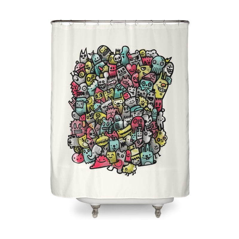 Staying Outside the lines  Home Shower Curtain by wotto's Artist Shop