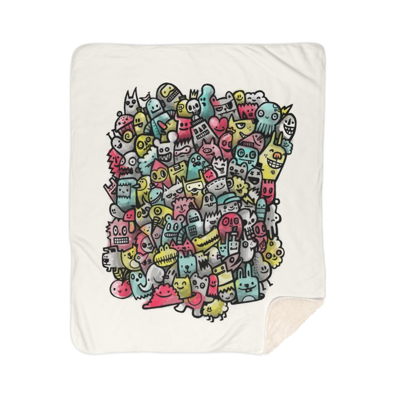Staying Outside the lines  Home Sherpa Blanket Blanket by wotto's Artist Shop