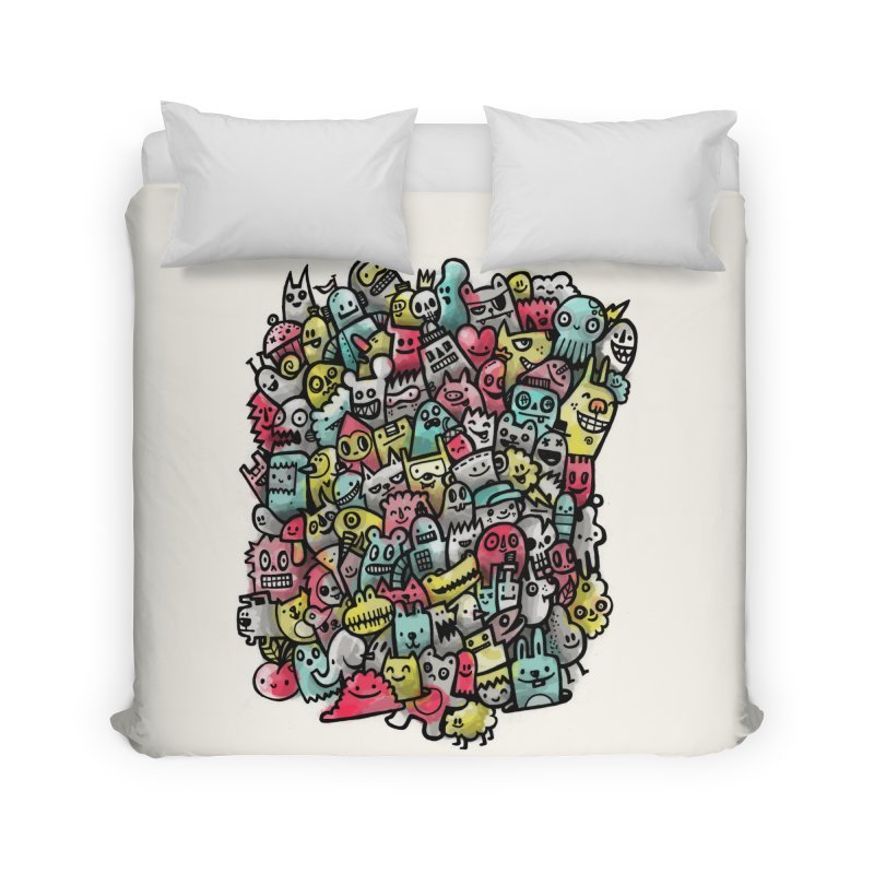 Staying Outside the lines  Home Duvet by wotto's Artist Shop