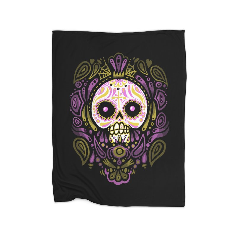 Day of the Calavera Home Blanket by wotto's Artist Shop