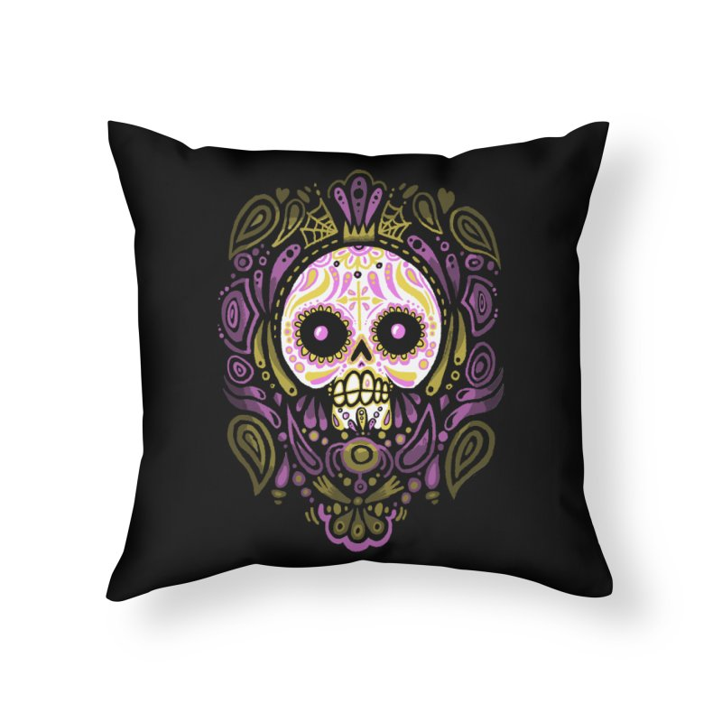 Day of the Calavera Home Throw Pillow by wotto's Artist Shop