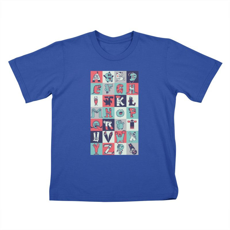 Alphabeasts Kids T-Shirt by wotto's Artist Shop