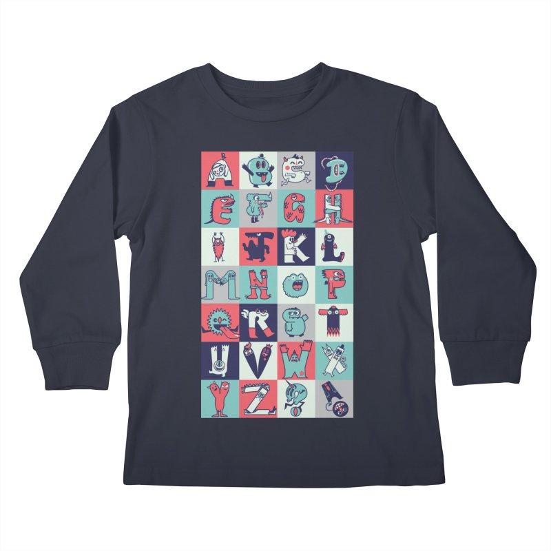 Alphabeasts Kids Longsleeve T-Shirt by wotto's Artist Shop