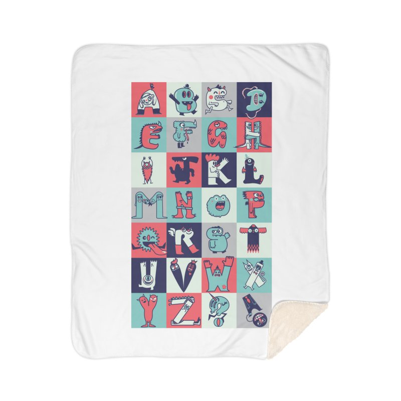 Alphabeasts Home Blanket by wotto's Artist Shop