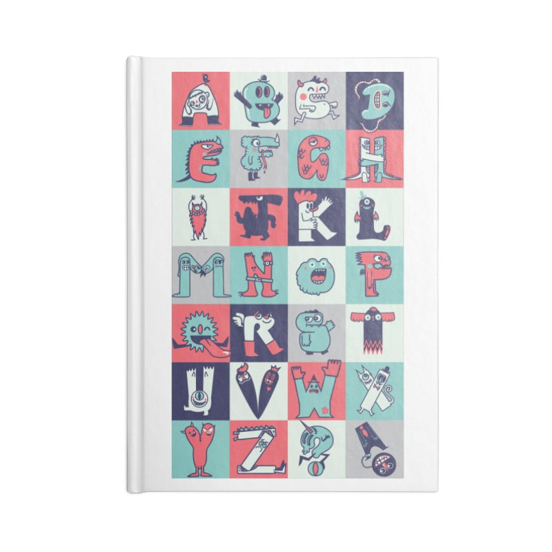 Alphabeasts Accessories Notebook by wotto's Artist Shop