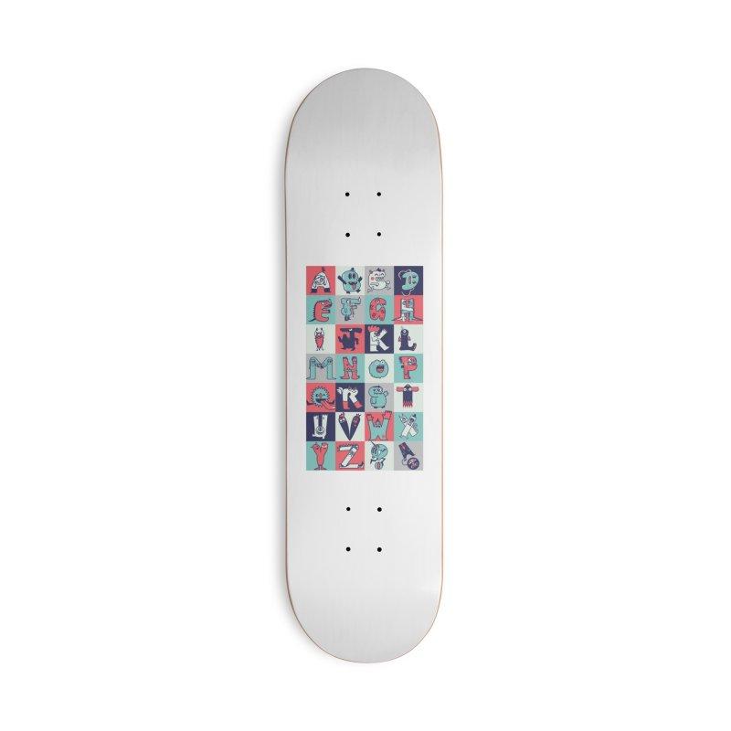 Alphabeasts Accessories Skateboard by wotto's Artist Shop