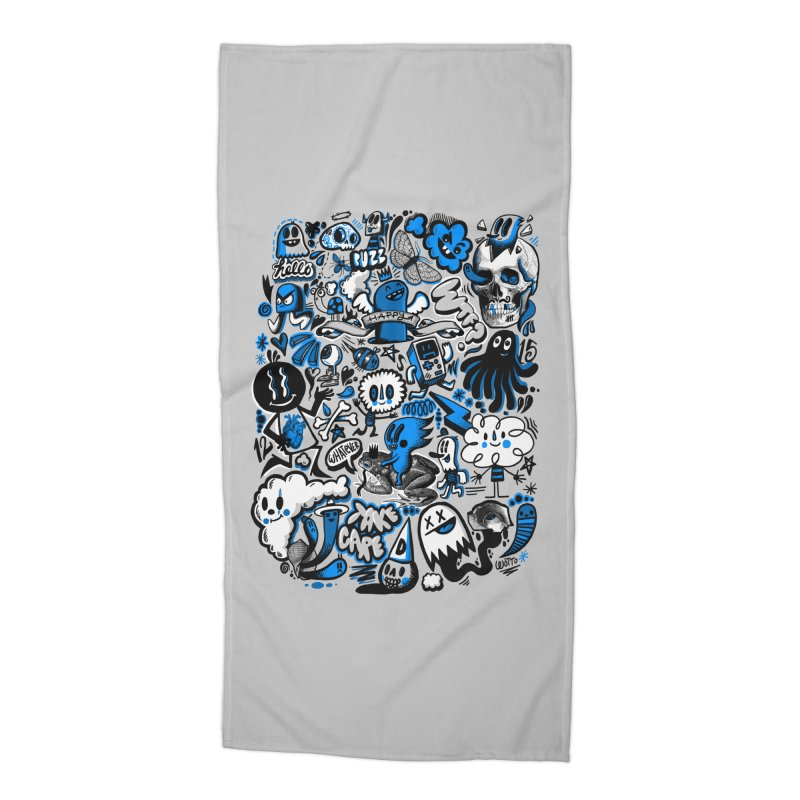 Strange & Unusual Accessories Beach Towel by wotto's Artist Shop