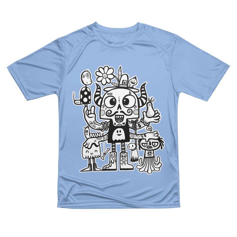 Crossed Eyed Killer Skull Face Women's T-Shirt by wotto's Artist Shop