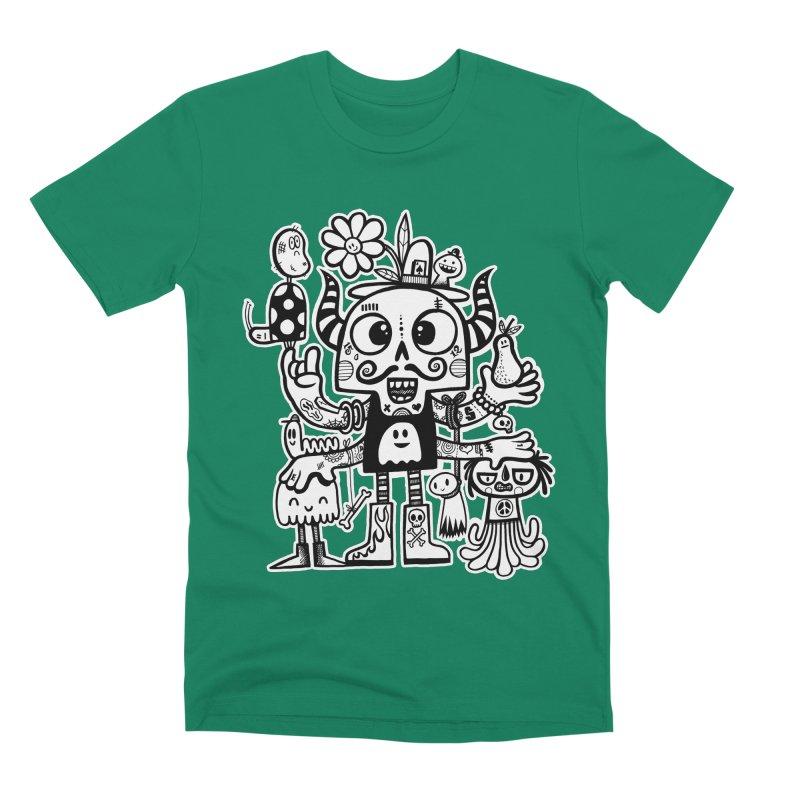 Crossed Eyed Killer Skull Face Men's T-Shirt by wotto's Artist Shop