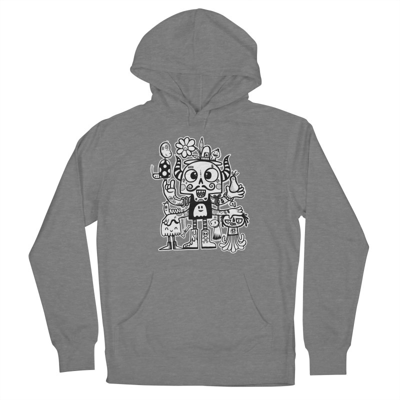 Crossed Eyed Killer Skull Face Women's Pullover Hoody by wotto's Artist Shop