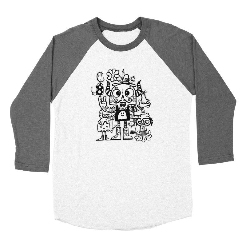 Crossed Eyed Killer Skull Face Women's Longsleeve T-Shirt by wotto's Artist Shop