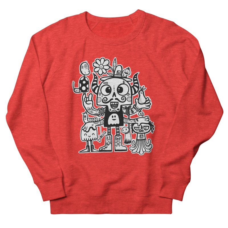 Crossed Eyed Killer Skull Face Women's Sweatshirt by wotto's Artist Shop