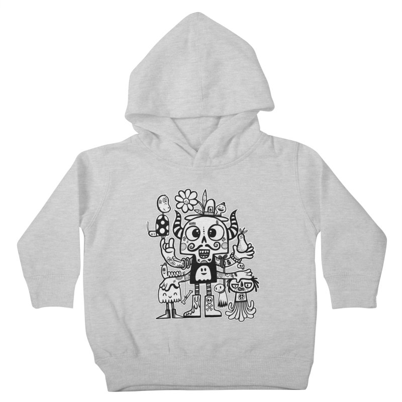 Crossed Eyed Killer Skull Face Kids Toddler Pullover Hoody by wotto's Artist Shop