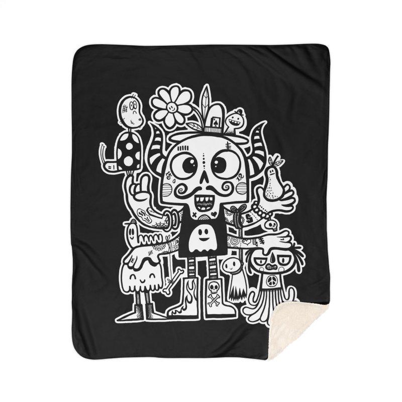 Crossed Eyed Killer Skull Face Home Blanket by wotto's Artist Shop