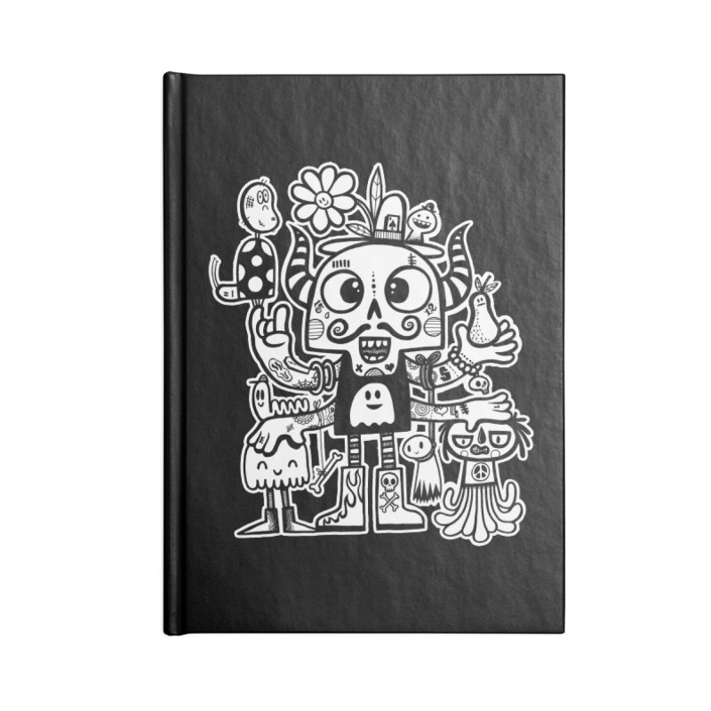 Crossed Eyed Killer Skull Face Accessories Notebook by wotto's Artist Shop