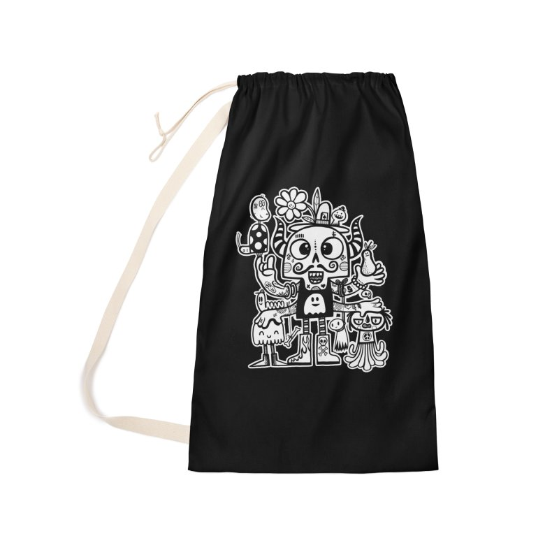 Crossed Eyed Killer Skull Face Accessories Bag by wotto's Artist Shop