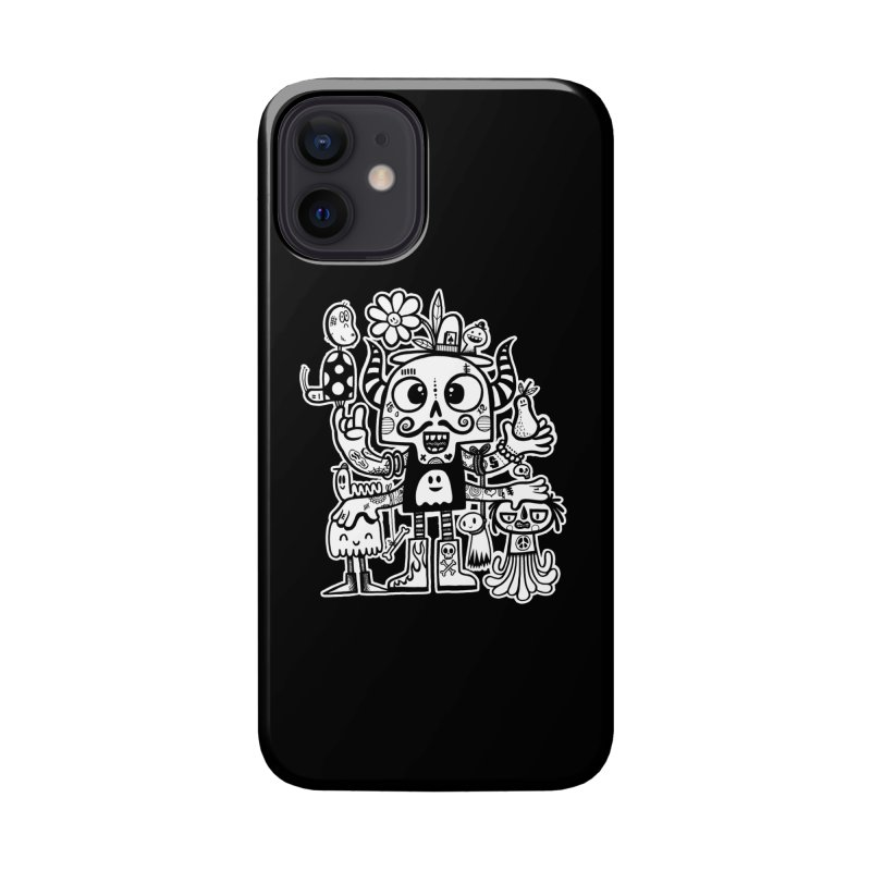 Crossed Eyed Killer Skull Face Accessories Phone Case by wotto's Artist Shop