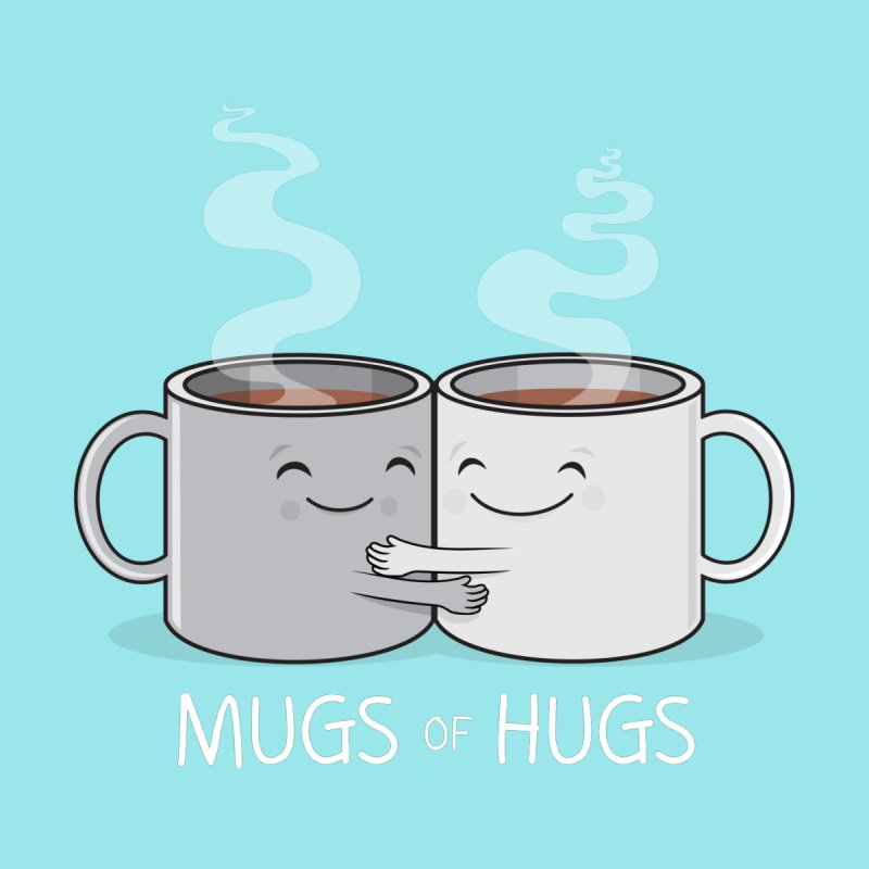 Mugs of Hugs Home Bath Mat by wotto's Artist Shop