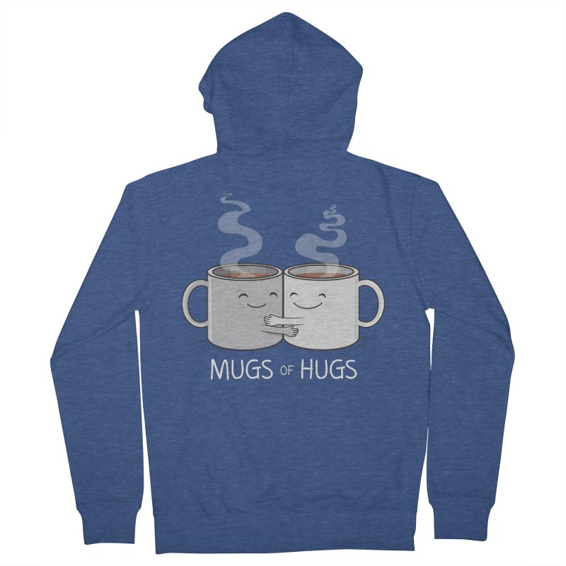 Mugs of Hugs Men's French Terry Zip-Up Hoody by wotto's Artist Shop