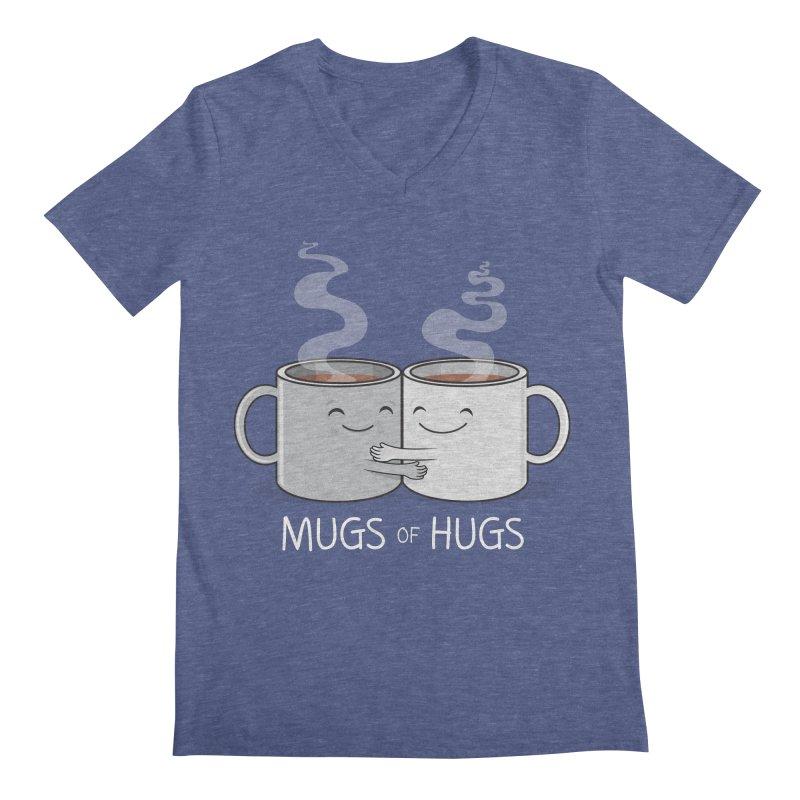 Mugs of Hugs Men's V-Neck by wotto's Artist Shop