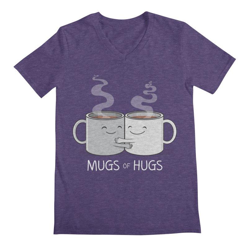 Mugs of Hugs Men's Regular V-Neck by wotto's Artist Shop