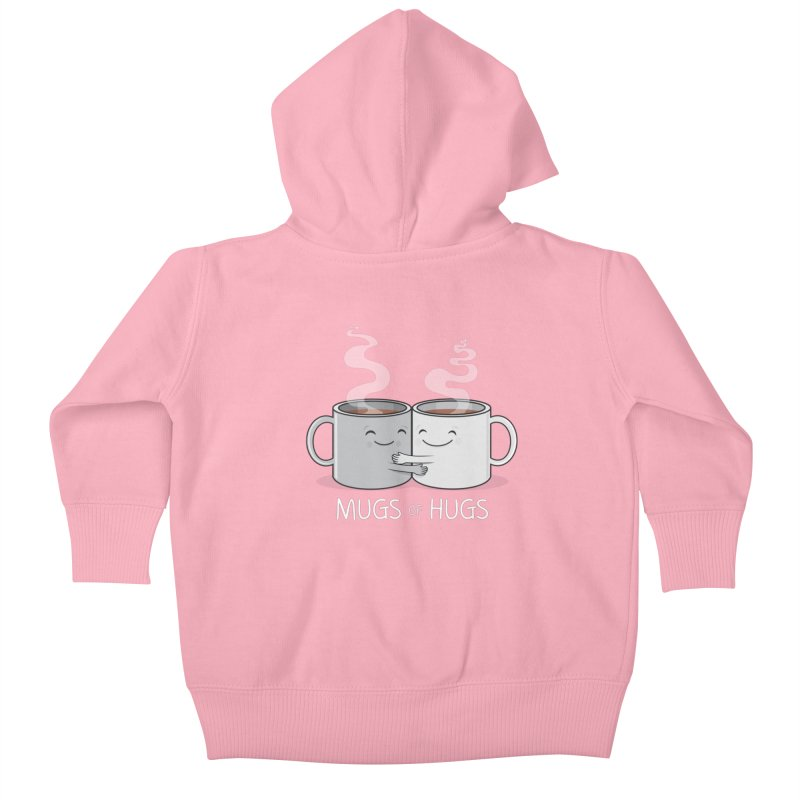 Mugs of Hugs Kids Baby Zip-Up Hoody by wotto's Artist Shop